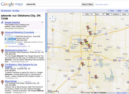 Google Maps Location Set