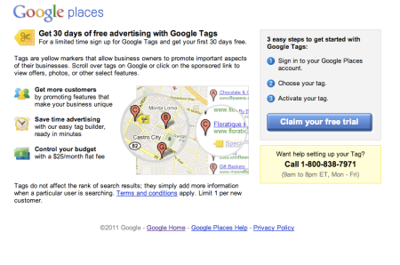 Google Tags $25 A Month Flat Fee