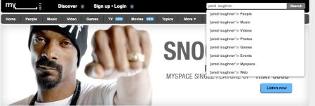 MySpace Search