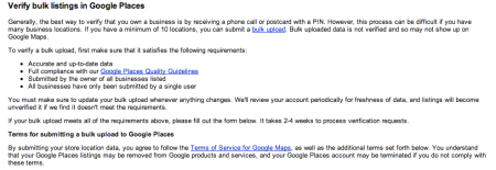 Verify Bulk Listings In Google Places
