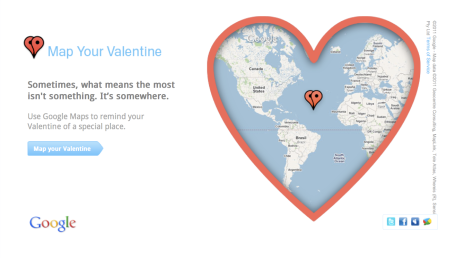 Google Map Your Valentine