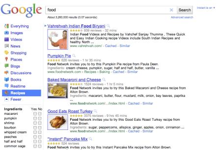 Google Recipes Link