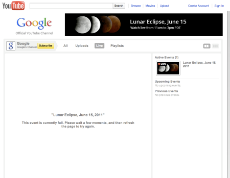 Google Lunar Eclipse Full